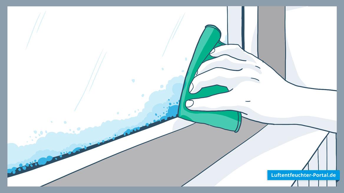 Kondenswasser am Fenster vermeiden