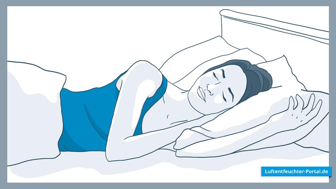 Ideale Luftfeuchtigkeit für gesunden Schlaf schaffen mittels Luftentfeuchter